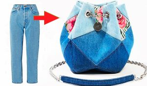 How To Make Bag From Old Jeans And Scrap Fabric