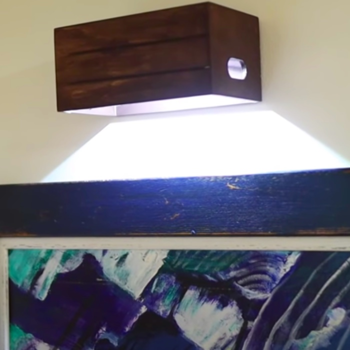 How To Make A Wall Sconce With Push Lights - DIY Dollar Tree Wall Sconce - Dollar Tree DIY Ideas