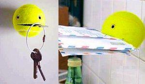 How To Make A Tennis Ball Key Holder
