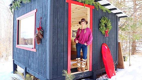 How To Build An Off The Grid Tiny Cabin | DIY Joy Projects and Crafts Ideas