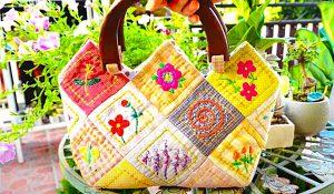 25 Squares Tote Bag