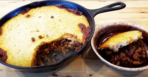 Chili Cornbread Skillet Bake Casserole Recipe