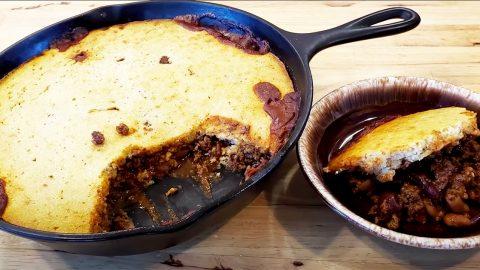 Chili Cornbread Skillet Bake Casserole Recipe   DIY Joy Projects and Crafts Ideas
