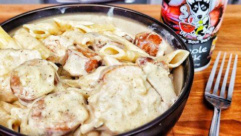 Crockpot Cajun Chicken Alfredo Recipe   DIY Joy Projects and Crafts Ideas