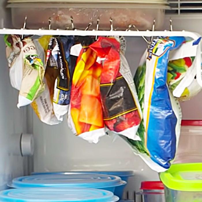 Easy Freezer Organization With Binder Clips - Freezer Hacks - Freezer Organization Ideas