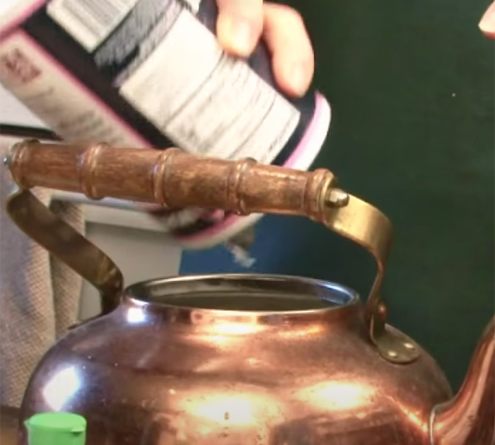 Use Salt and Natural Ingredients To Clean Kettle - cleaning a stainless kettle pot