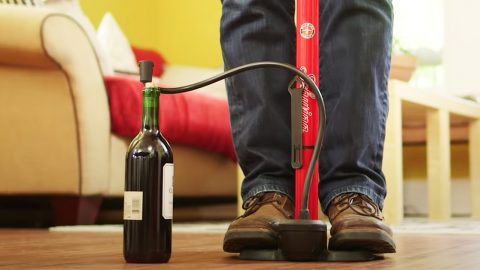 How To Open A Wine Bottle With A Bike Pump | DIY Joy Projects and Crafts Ideas
