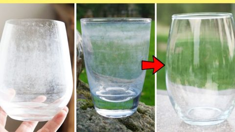 How To Remove Hard Water Stains From Drinking Glass With Baking Soda | DIY Joy Projects and Crafts Ideas