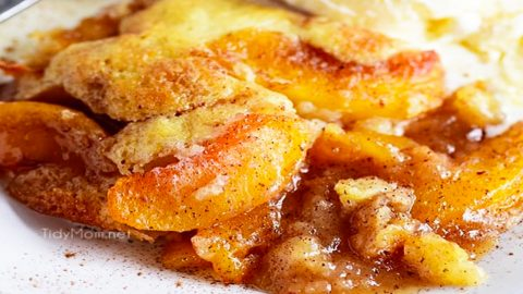 Old Fashioned Peach Cobbler Recipe | DIY Joy Projects and Crafts Ideas