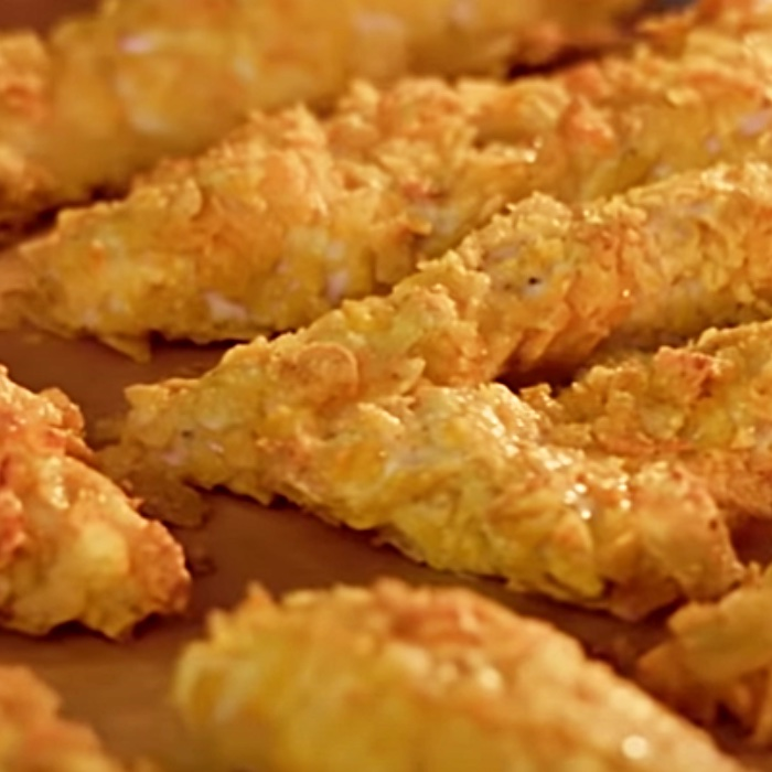 Potato Chip Crusted Chicken Strips - How To Make Oven Baked Chicken Strips - How To Make Chicken Strips