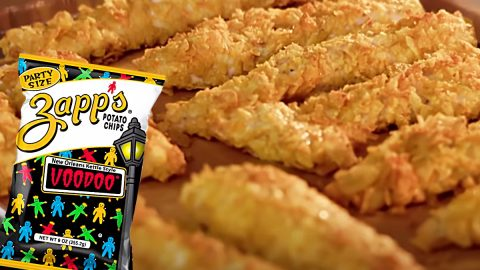 Potato Chip Crusted Chicken Fingers Recipe   DIY Joy Projects and Crafts Ideas