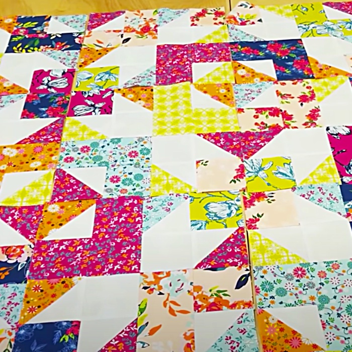 Fat Quarter Day dreaming Quilt - Easy Quilt Pattern - Free Quilt Pattern