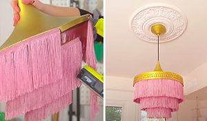 Elegant DIY Fringe Chandelier