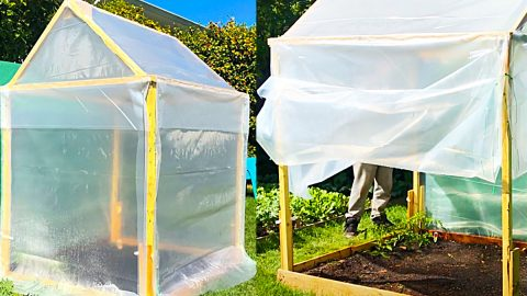 How To Build A Small $20 Greenhouse | DIY Joy Projects and Crafts Ideas
