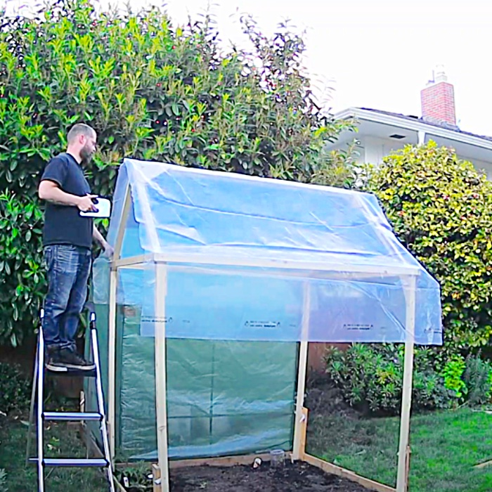 How To Grow Food At Home - Easy Way To Build A Greenhouse - Small Cheap Greenhouse Ideas