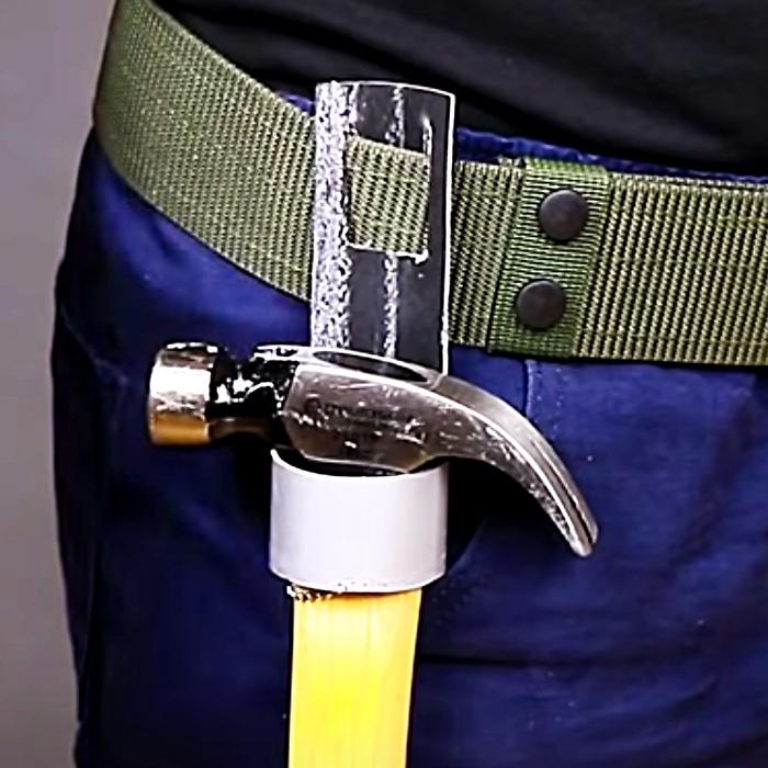 How To Make A Hammer Holder - Tool Belt Ideas - Easy Hamer Hacks