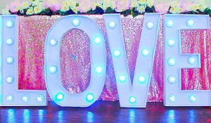 Dollar Tree DIY Marquee Letters