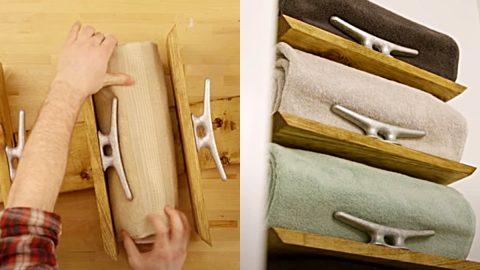 DIY Nautical Towel Rack | DIY Joy Projects and Crafts Ideas