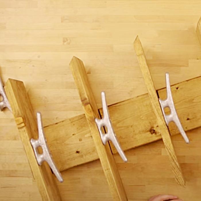 How To make A Nautical Towel Holder - DIY Towel Rack - Wooden Towel Rack