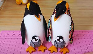 Patchwork Penguin With Free Pattern