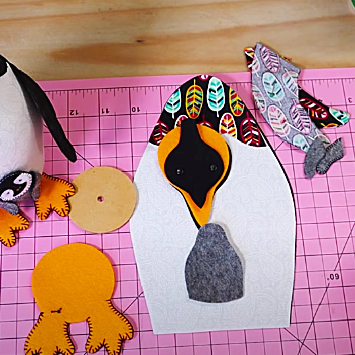 Easy Penguin Pattern - How To Make A Hand Sewn Animal - Free Sewing Pattern