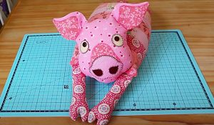 How To Make A Patchwork Pig With Free Pattern
