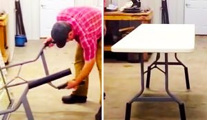 How To Make A Folding Table Taller With PVC