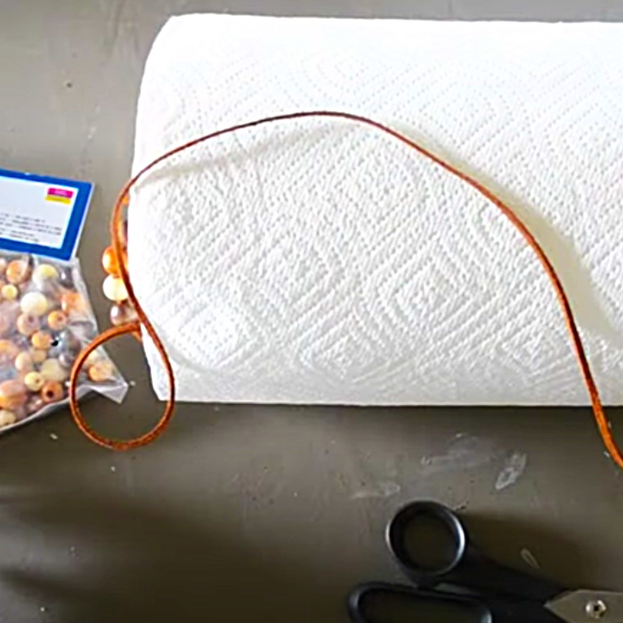 How To Make A Beaded Paper Towel Holder - Kitchen Ideas - Kitchen Organizing