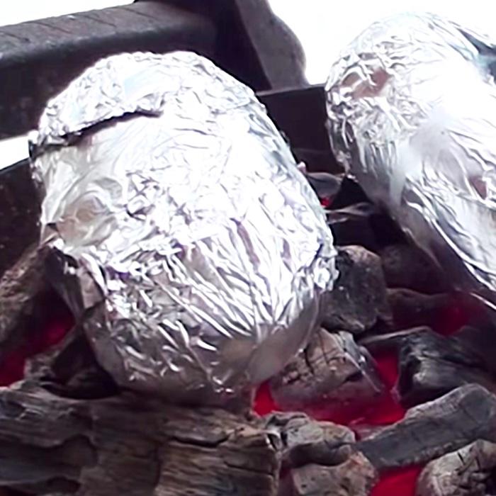 Volcano Baked Potato Recipe - How To Make A Stuffed BBQ Potato - Easy Grilling Ideas