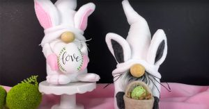 DIY Easter Bunny Gnome