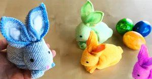 DIY Easter Towel Bunny