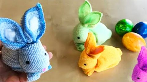 DIY Easter Towel Bunny | DIY Joy Projects and Crafts Ideas