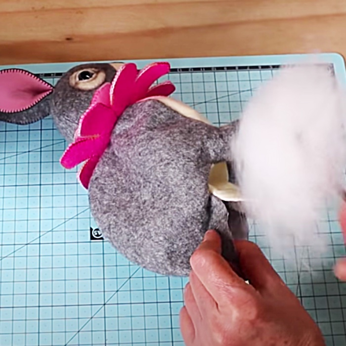 Easter DIY Ideas - Easter Gift - Patchwork Easter Bunny - Free Pattern