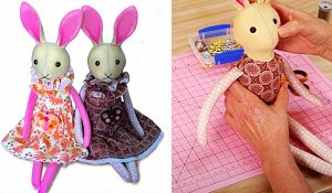 How To Sew A Bunny Doll With Free Pattern