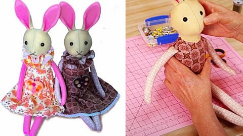 How To Sew A Bunny Doll With Free Pattern | DIY Joy Projects and Crafts Ideas