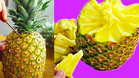 Easy Way To Peel And Eat A Pineapple   DIY Joy Projects and Crafts Ideas