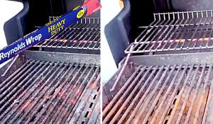 How To Clean A BBQ Grill With Foil