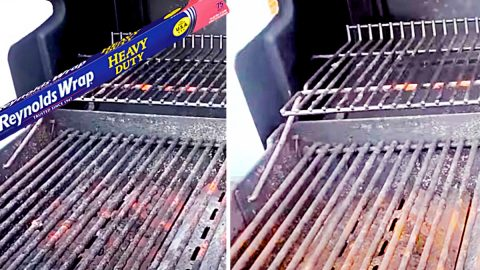 How To Clean A BBQ Grill With Foil   DIY Joy Projects and Crafts Ideas