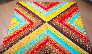 Easy Jelly Roll Quilt With Free Pattern