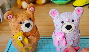 Mama Teddy Bear With Free Pattern