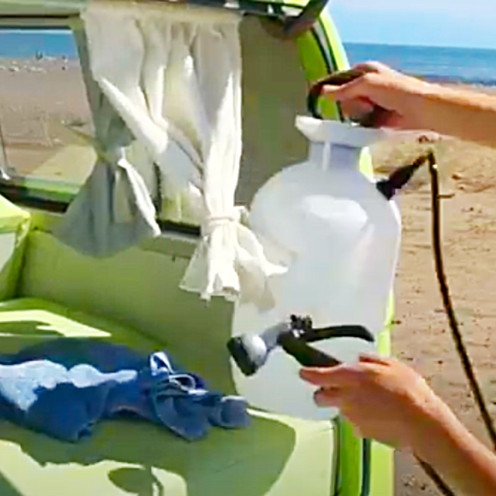 How To Make A Hand Held Shower - Outdoor shower Ideas - Portable Shower Ideas