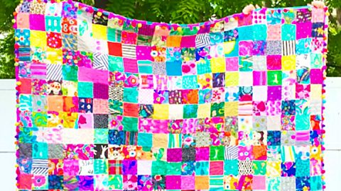 How To Make An Easy Patchwork Squares Quilt | DIY Joy Projects and Crafts Ideas