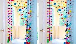 How To Make A Pom-Pom Door Hanging