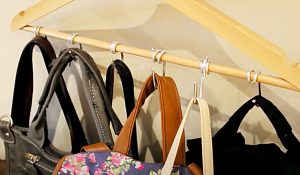 How To Make A Purse Holder From A Coat Hanger