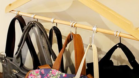 How To Make A Purse Holder From A Coat Hanger | DIY Joy Projects and Crafts Ideas