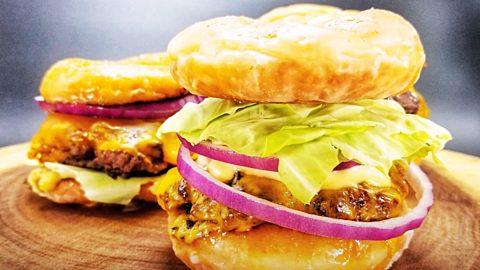 Copycat Krispy Kreme Smash Burger Recipe | DIY Joy Projects and Crafts Ideas