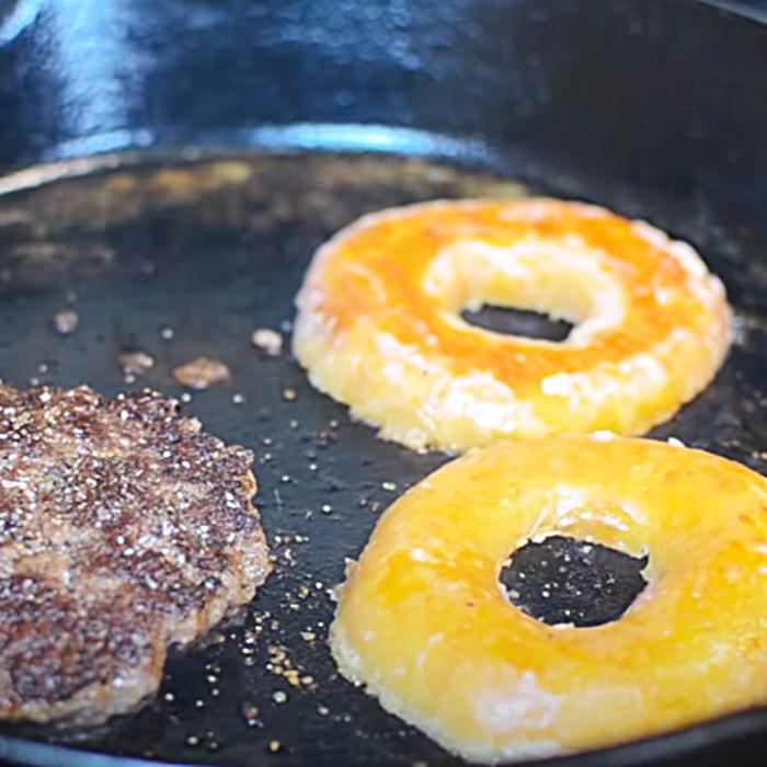 Copycat Krispy Kreme Smash Burger Recipe - Easy Burger Recipe - Donut Ideas
