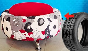 How To Make A Plush Stool With An Old Tire