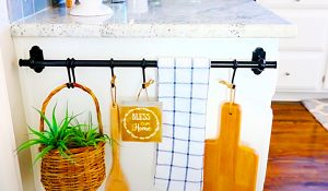 How To Turn A Towel Rail Into A Farmhouse Kitchen Display