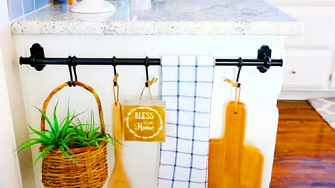 How To Turn A Towel Rail Into A Farmhouse Kitchen Display | DIY Joy Projects and Crafts Ideas